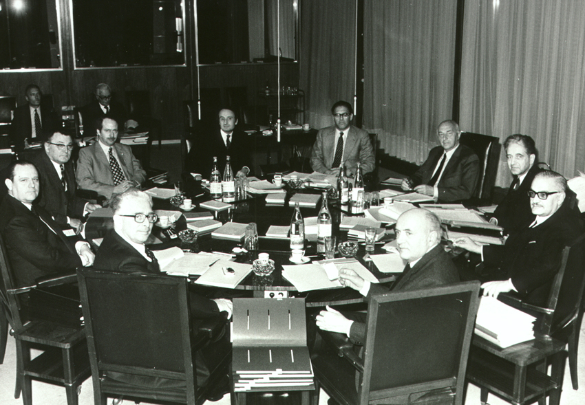 First meeting of the Mansholt Commission