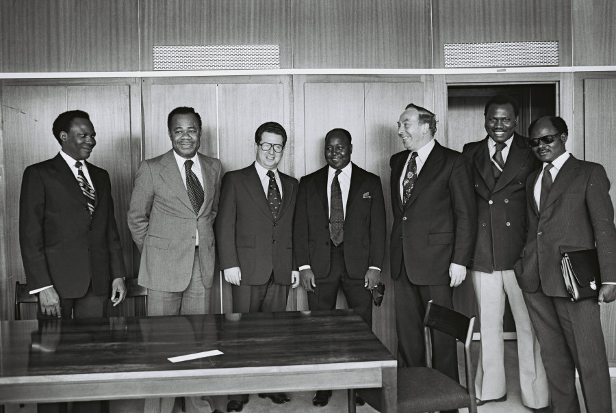 Signing of agreement between the EEC and Nigeria