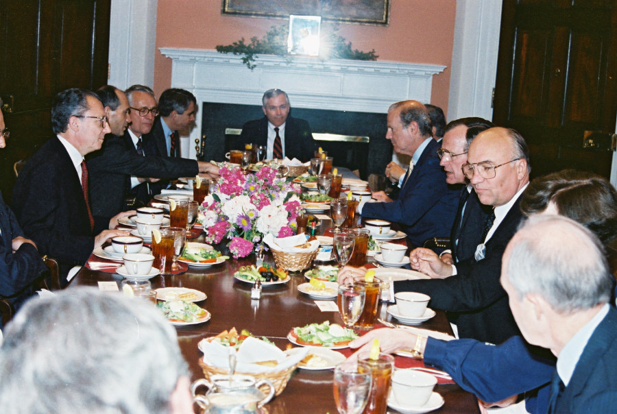 Visit of a Commission delegation headed by Jacques Delors, President of the CEC, to the United States