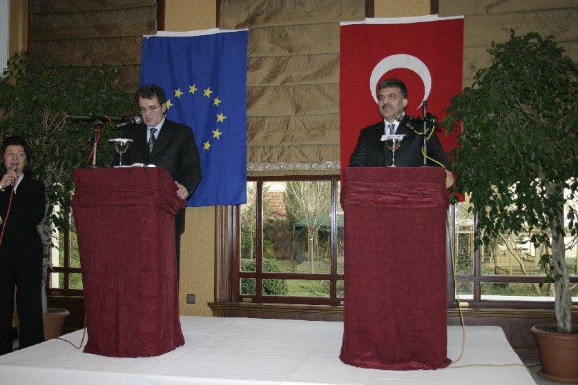 Visit by Romano Prodi, President of the EC, to Turkey