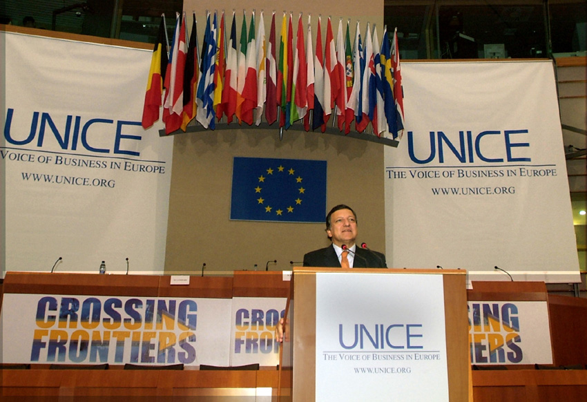 Participation by José Manuel Barroso, President of the EC, to the Competitiveness Day 2005 of the UNICE Crossing Frontiers