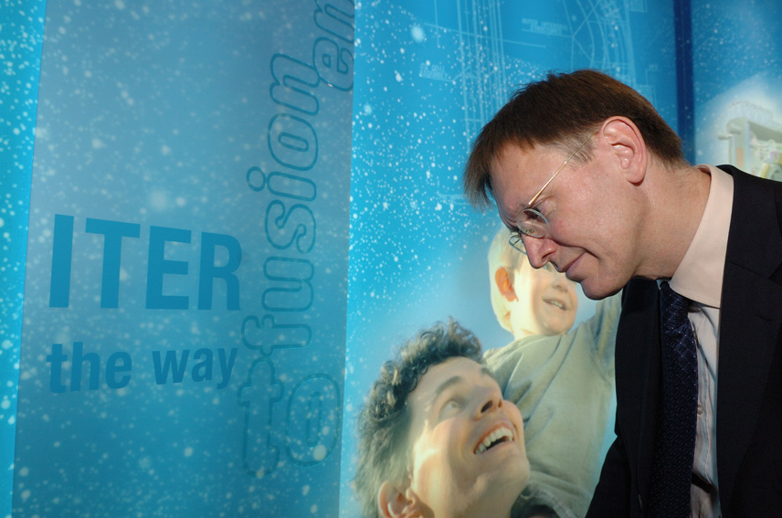 Janez Potocnik, Member of the EC, at the inauguration of the ITER exhibition