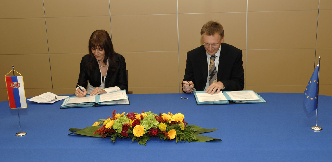 Signature of Memoranda of Understanding with Serbia, Croatia and the former Yugoslav Republic of Macedonia for the EU's Seventh Research Framework Programme (FP7)