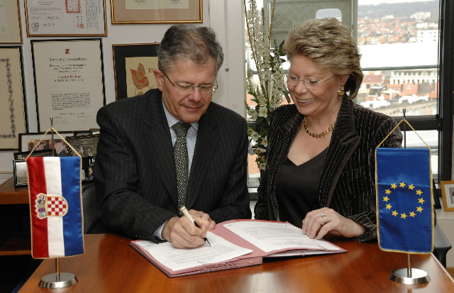Signature of a Memorandum of Understanding with Croatia to join the MEDIA programme