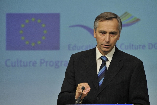 Press conference by Ján Figel', Member of the EC, on the European Heritage Days 2008