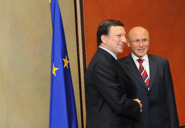 Visite de Mehmet Ali Talat, dirigeant de la communauté chypriote turque, à la CE