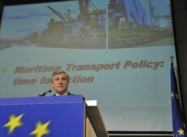 Press conference by Antonio Tajani, Member of the EC, on the maritime transport policy