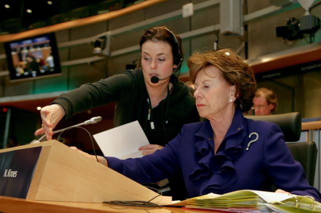 Hearing of Neelie Kroes, Vice-President designate of the EC, at the EP