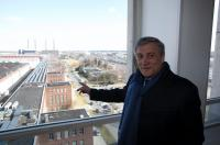 Antonio Tajani, Vice-President of the EC, visiting the Volkswagen construction site in Wolfsburg