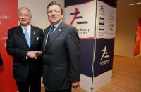 Rencontre entre José Manuel Barroso, président de la CE, et Mohd Najib bin Tun Abdul Razak, Premier ministre malaisien