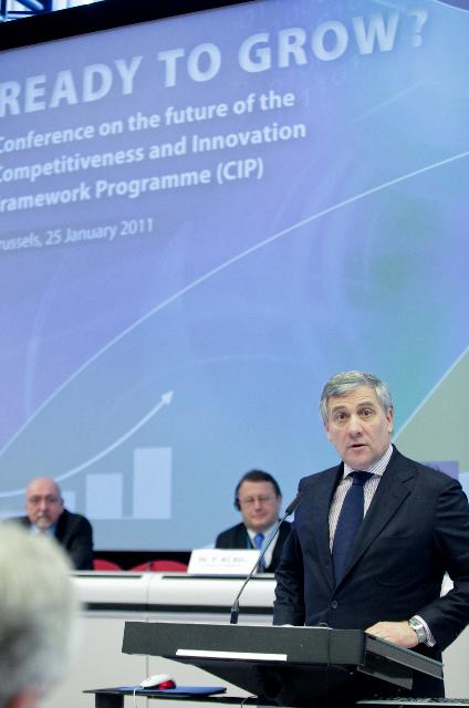 Participation of Antonio Tajani, Vice-President of the EC, at the public conference on the future of the Competitiveness and Innovation Framework Programme