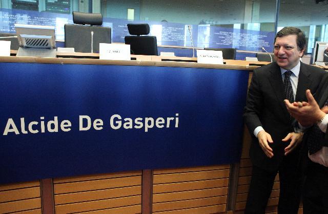 Inauguration by José Manuel Barroso, President of the EC, of the De Gasperi room