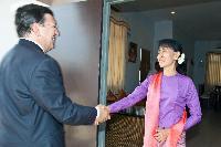 Visite de José Manuel Barroso, président de la CE, en Birmanie/au Myanmar