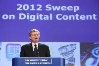 Press conference by Tonio Borg, Member of the EC, on the initial findings of the 2012 Sweep, an EU wide screening of websites selling games, books, videos and music, which can be downloaded to a computer or mobile device