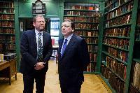 Visite de José Manuel Barroso, président de la CE, aux Pays-Bas