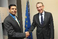 Meeting between Andris Piebalgs, Member of the EC, and Gyan Chandra Acharya, Under-Secretary-General of the United Nations and High Representative for the LDC, Landlocked Developing Countries and Small Island Developing States