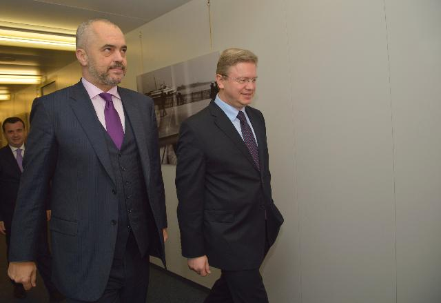 Visit of Edi Rama, Leader of the Albanian Socialist Party, to the EC