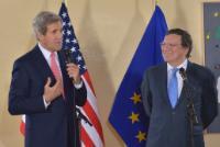 Visite de John Kerry, secrétaire d'État américain, à la CE