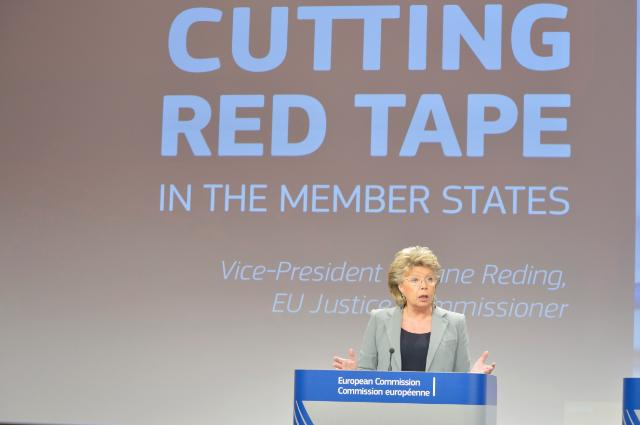 Press conference by Viviane Reding, Vice-President of the EC, on a proposal for a Regulation on simplifying administrative formalities of certain public documents in the EU