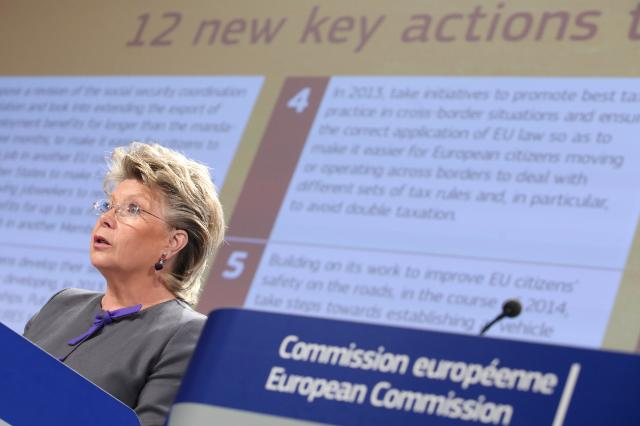 Press conference by Viviane Reding, Vice-President of the EC, on 12 new actions of the EC to boost citizens' rights