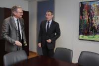 Visite de Jean-Pascal Labille, ministre belge des Entreprises publiques et de la Coopération au développement, chargé des Grandes Villes, à la CE