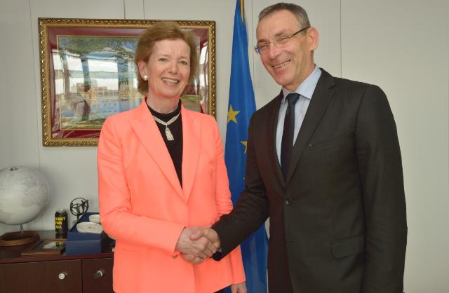 Visit of Mary Robinson, US Special Envoy for the Great Lakes Region of Africa, to the EC