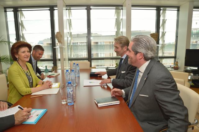 Visite de Frédéric Thiriez, président de l'EPFL, à la CE
