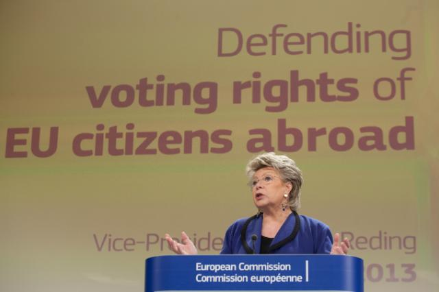 Press conference by Viviane Reding, Vice-President of the EC, on voting rights of EU citizens abroad