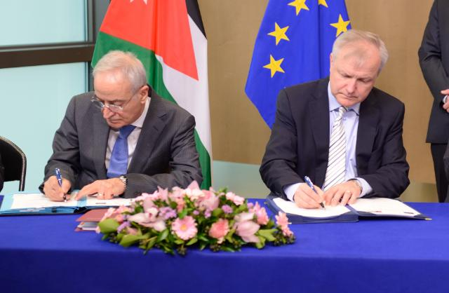 Signing ceremony of a Macro-Financial Assistance package between the EU and Jordan