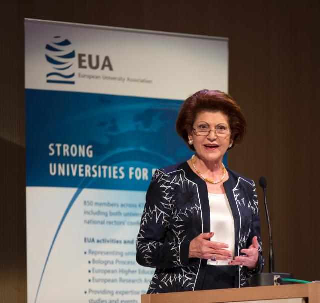 Participation of Androulla Vassiliou, Member of the EC, at the 2014 EUA annual conference, organised at the Université libre de Bruxelles