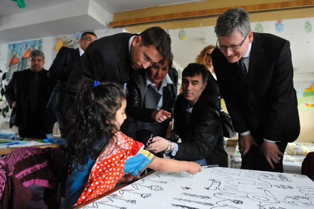 Visit of László Andor, Member of the EC, to Hrebendova 5 kindergarten in Košice