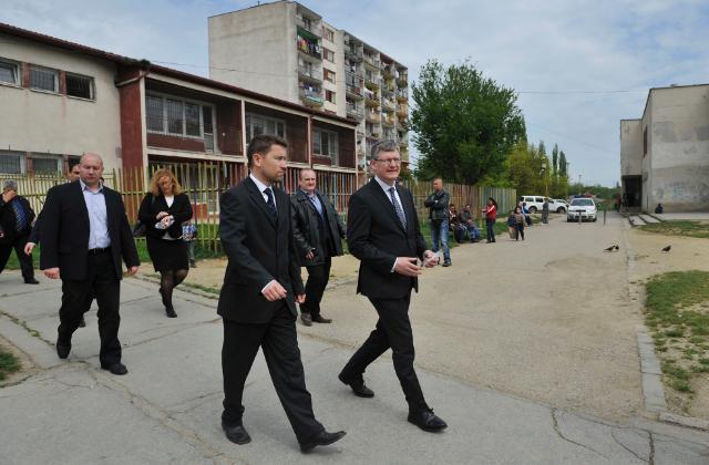 Visit of László Andor, Member of the EC, to Hrebendova 5 kindergarten in Košice