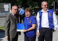 Visit of Kristalina Georgieva, Member of the EC, to the region in the Balkans hit by devastating floods