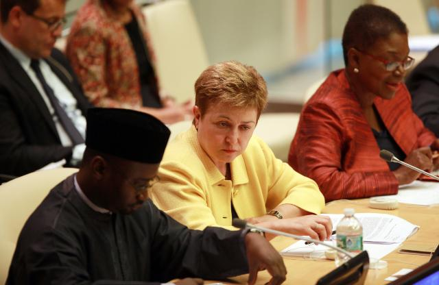 Participation of Kristalina Georgieva, Member of the EC, at the debate on humanitarian affairs of the Ecosoc, in New York