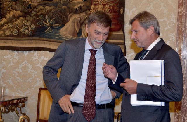 Visit of Maroš Šefčovič, Vice-President of the EC, and Johannes Hahn, Member of the EC, to Italy