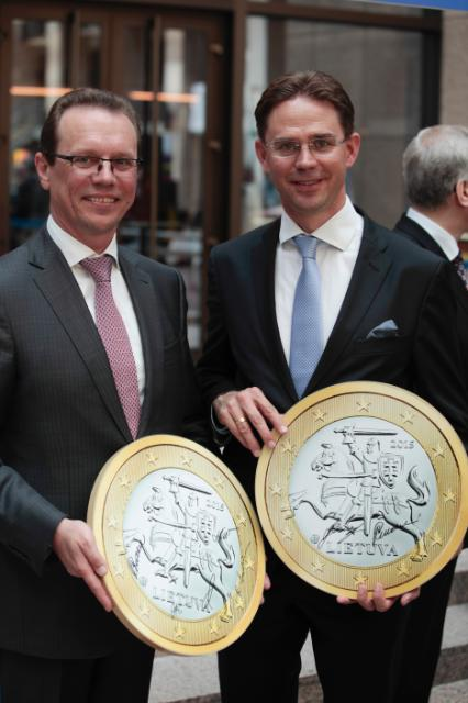 Participation of Jyrki Katainen, Vice-President of the EC, and Algirdas Šemeta, Member of the EC, in the festivities to celebrate the enlargement of the euro area to include Lithuania