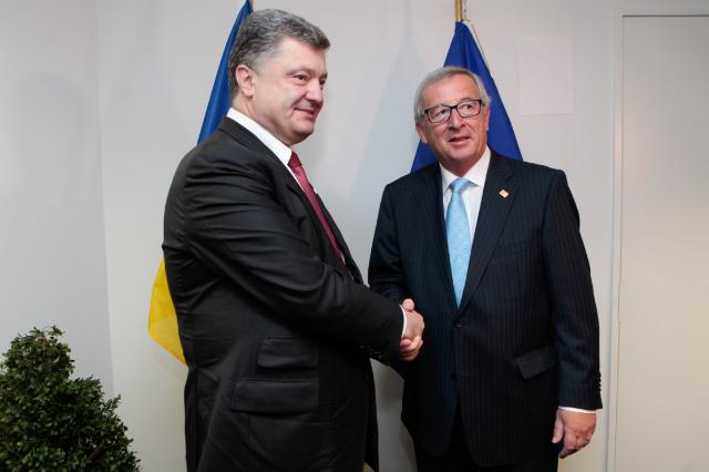 Meeting between Petro Poroshenko, President of Ukraine, and Jean-Claude Juncker, President-elect of the EC