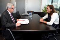 Meeting between Cecilia Malmström, Member of the EC, and Jean-Claude Juncker, President-elect of the EC