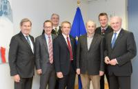 """Illustration of """"Visit of the Members of the Board of Gmundner Molkerei to the EC"""""""