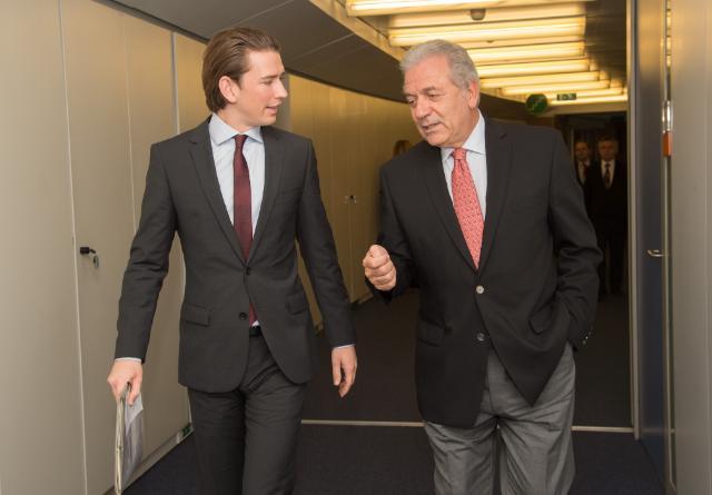 Visite de Sebastian Kurz, ministre fédéral autrichien des Affaires européennes et internationales, à la CE
