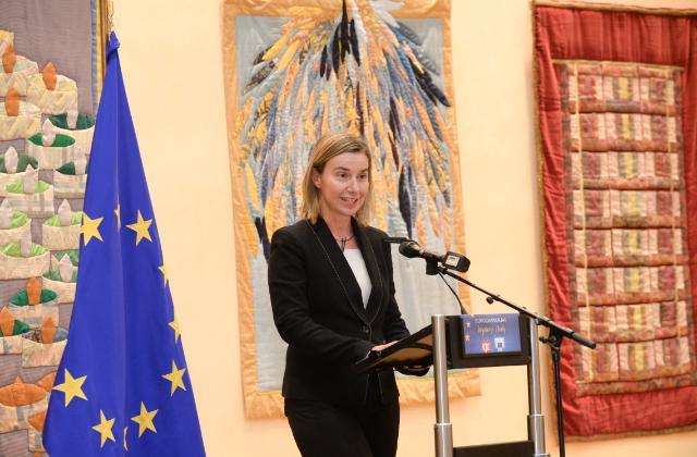Participation de Federica Mogherini, vice-présidente de la CE, à l'évènement 'EuroChanukah Paix 2014'