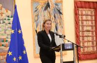 "Illustration of ""Participation of Federica Mogherini, Vice-President of the EC, in the 'EuroChanukah Peace 2014' event"""