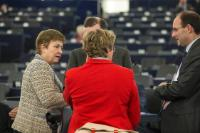 "Illustration of ""Participation of Jean-Claude Juncker, President of the EC, in the EP plenary session"""