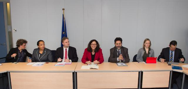 Participation of Cecilia Malmström, Member of the EC, at the meeting of the advisory group of experts on the TTIP