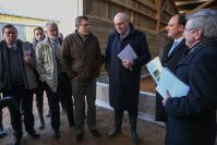 """Illustration of """"Visit of Phil Hogan, Member of the EC, to the Belgian farms"""""""