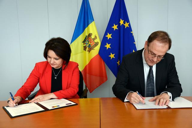 Cérémonie de signature du programme 'Europe créative' avec la Moldavie