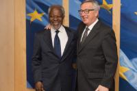 Visit of Kofi Annan, former Secretary General of the United Nations and patron of the Sergio Vieira de Mello Foundation, to the EC