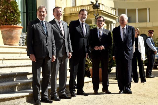 Visite de Federica Mogherini, vice-présidente de la CE, et Johannes Hahn, membre de la CE, en Espagne