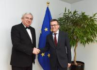 """Illustration of """"Visit of Gheorghe Duca, President of the Academy of Sciences of Moldova, to the EC"""""""