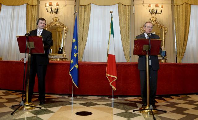 Visite de Valdis Dombrovskis, vice-président de la CE, en Italie